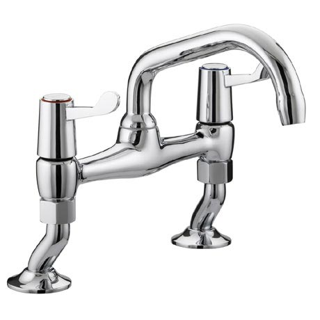 Bristan - Value Lever Pillar Bridge Kitchen Sink Mixer - VAL-PSNK-C-CD