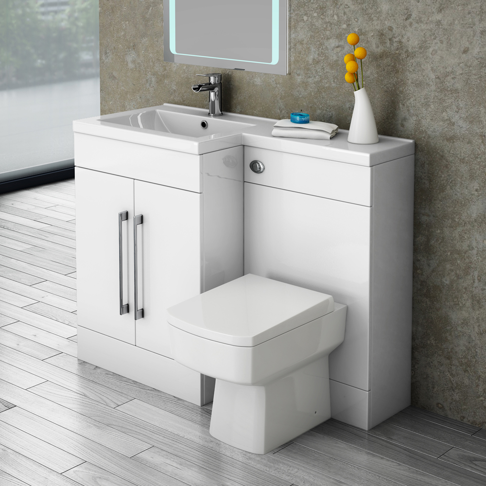 valencia 1100 combination basin wc unit with square. Black Bedroom Furniture Sets. Home Design Ideas
