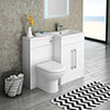 Valencia 1100mm Combination Bathroom Suite Unit with Basin + Round Toilet profile small image view 1