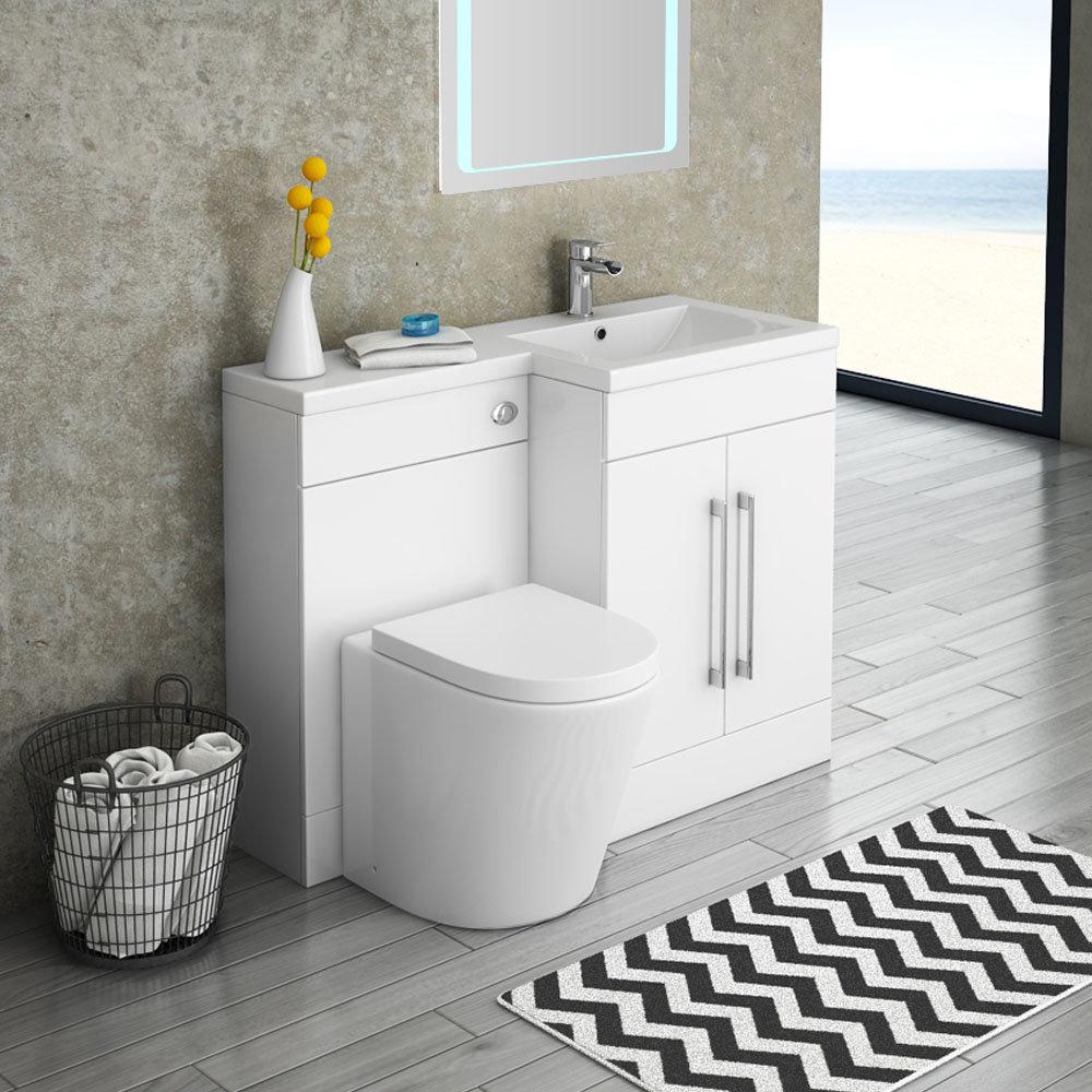 Valencia 1100mm Combination Bathroom Suite Unit with Basin + Solace Toilet