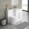 Valencia 1100mm Combination Bathroom Suite Unit with Basin + Solace Toilet profile small image view 1