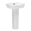 Valencia Modern Basin with Full Pedestal (600mm Wide - 1 Tap Hole) profile small image view 1