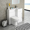 Valencia 900mm Combination Bathroom Suite Unit + Round Toilet profile small image view 1