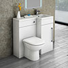 Valencia 900mm Combination Bathroom Suite Unit + Round Toilet profile small image view 1