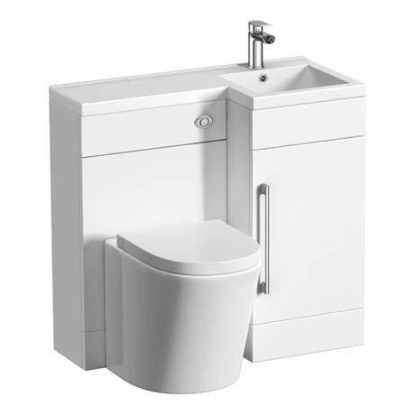 valencia 900mm combination bathroom suite unit + solace