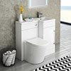 Valencia 900mm Combination Bathroom Suite Unit + Solace Toilet profile small image view 1