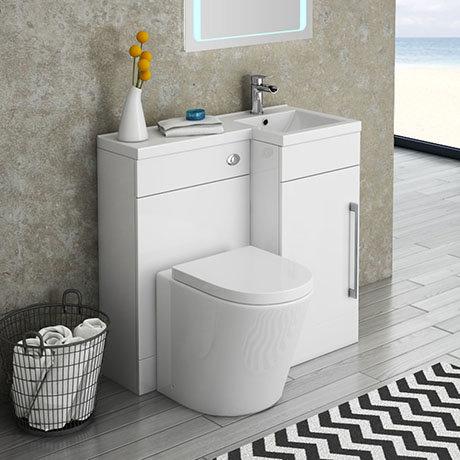 Valencia 900mm Combination Bathroom Suite Unit + Solace Toilet