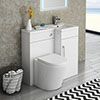 Valencia 900mm Combination Bathroom Suite Unit + Solace Toilet profile small image view 1