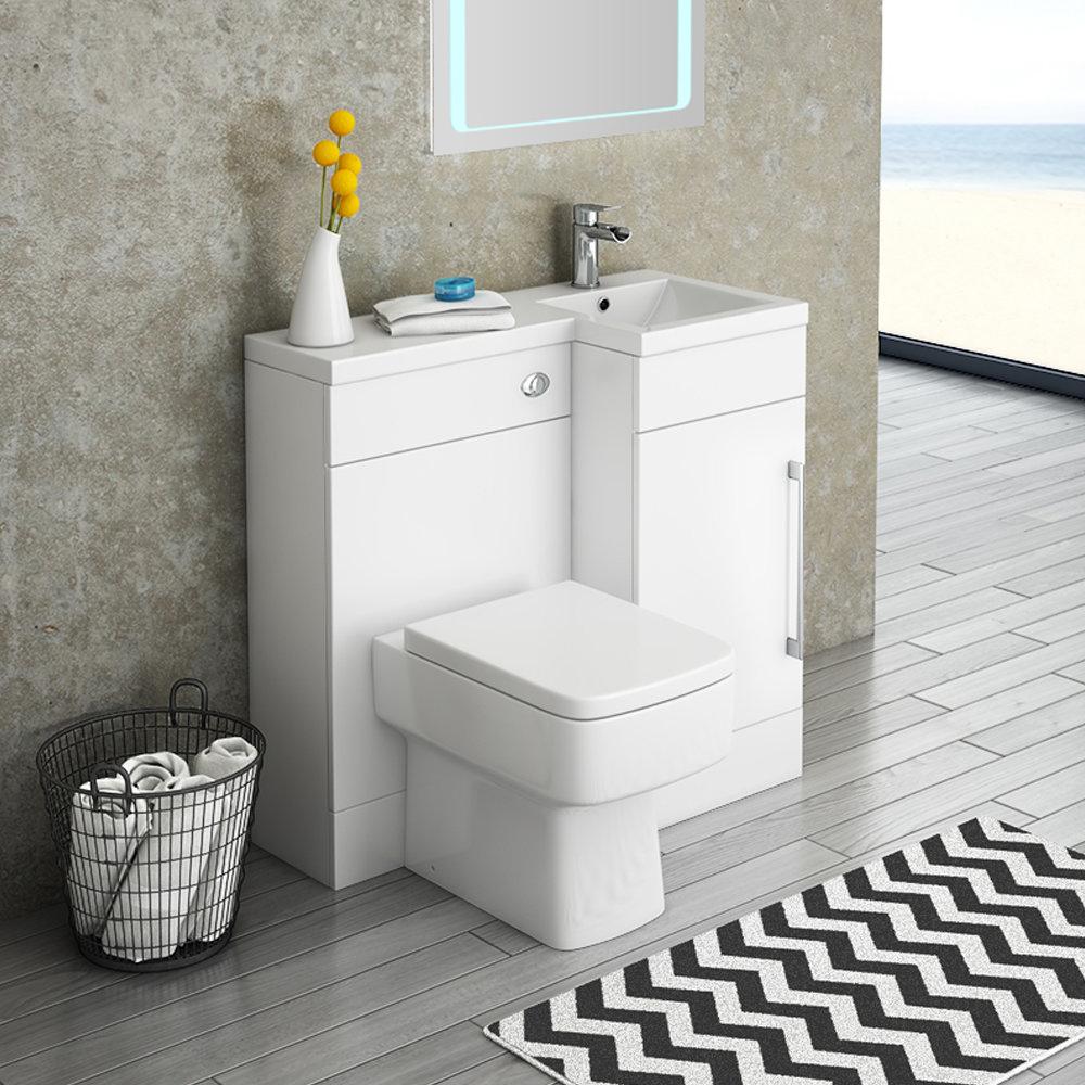 Valencia 900mm Combination Bathroom Suite Unit + Square Toilet