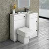 Valencia 900mm Combination Bathroom Suite Unit + Square Toilet profile small image view 1