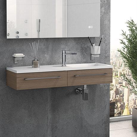 Valencia 995mm Oak Wall Hung Basin Unit