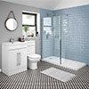 Valencia 1100 Vanity Unit Suite + Walk In Enclosure profile small image view 1