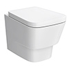 Valencia Modern Wall Hung Toilet + Soft Close Seat profile small image view 1