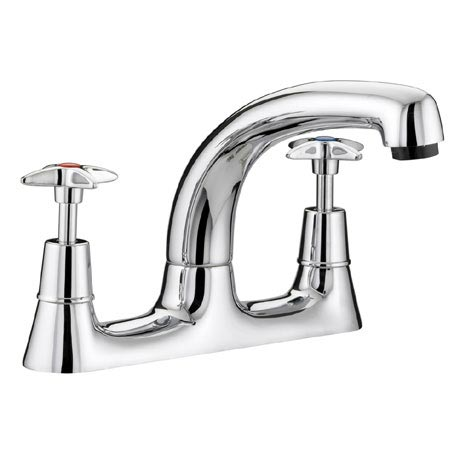 Bristan - Value Crosshead Deck Kitchen Sink Mixer - VAX-DSM-C