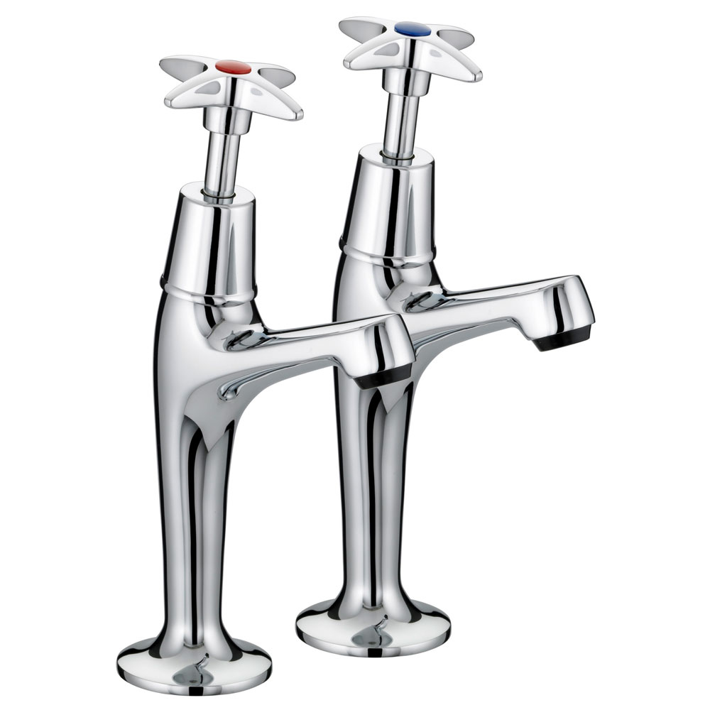 Bristan - Value Crosshead High Neck Pillar Taps - VAX-HNK-C Large Image
