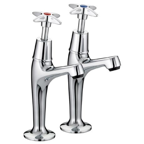 Bristan - Value Crosshead High Neck Pillar Taps - VAX-HNK-C