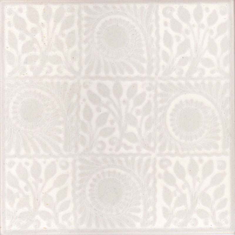 White 9 Square Decor Wall Tile - 152x152mm Large Image