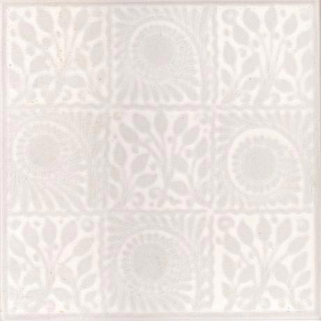 White 9 Square Decor Wall Tile - 152x152mm