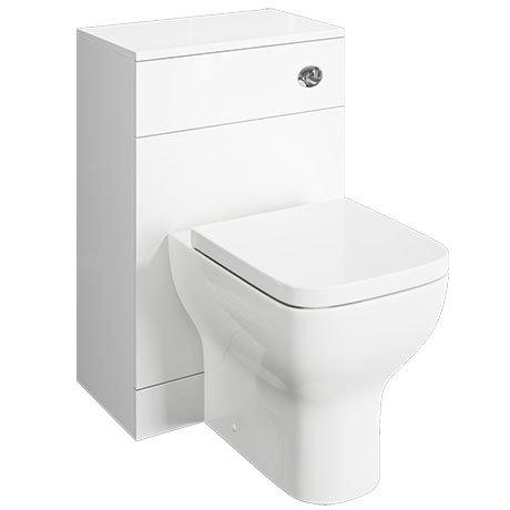 Venice 500x300mm White Gloss BTW Toilet Unit Inc. Cistern + Modern Pan