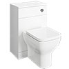 Venice 500x300mm White Gloss BTW Toilet Unit inc. Cistern + Modern Pan profile small image view 1