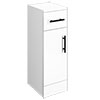 Venice 250x300mm Gloss White Cupboard Unit with Matt Black Handles profile small image view 1