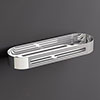 Venice Chrome 315mm Shower Basket profile small image view 1