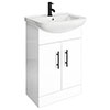 Venice 560 Gloss White Vanity with Matt Black Handles (Unit Depth 300mm) profile small image view 1