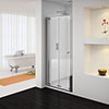 Newark Bi-Folding Shower Door - Various Sizes (Height - 1850mm) Small Image