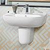 Villeroy and Boch O.novo 1TH Basin + Semi Pedestal profile small image view 1