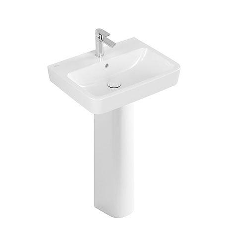Villeroy and Boch O.novo Square 1TH Washbasin + Full Pedestal