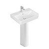 Villeroy and Boch O.novo Square 1TH Washbasin + Full Pedestal profile small image view 1