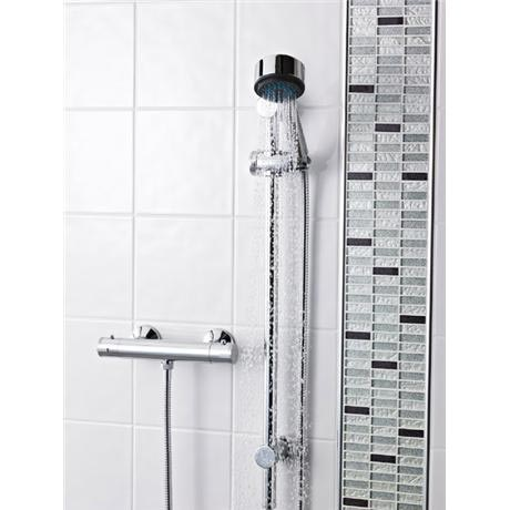 Premier - ABS Round Thermostatic Bar Valve with Modern Slide Rail Kit
