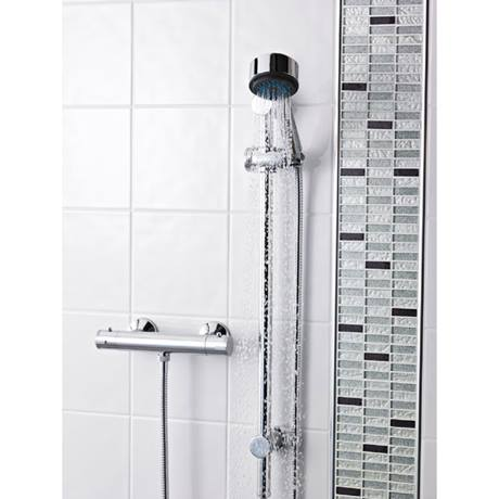 Premier ABS Round Thermostatic Bar Valve with Modern Slide Rail Kit