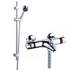 Nuie Wall Mounted Thermostatic Bath Shower Mixer Valve w/ Modern Slide Rail Kit profile small image view 1