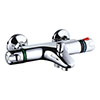 Nuie Wall Mounted Thermostatic Bath Shower Mixer Valve - Bottom Outlet - Chrome - VBS004 profile small image view 1