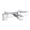 Nuie Square Thermostatic Bath/Shower Mixer Valve with Square Mounting Legs - Bottom Outlet profile small image view 1