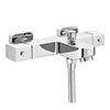 Ultra Wall Mounted Square Thermostatic Bath/Shower Mixer Valve - Bottom Outlet - Chrome - VBS005 profile small image view 1
