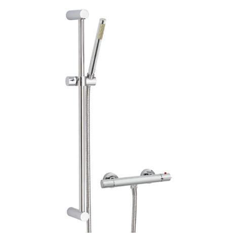Ultra Slimline Thermostatic Bar Shower Valve With