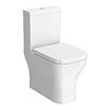 Venice Modern BTW Close Coupled Toilet + Soft Close Seat profile small image view 1