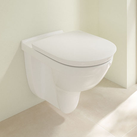 Villeroy and Boch ViCare Rimless Wall Hung Toilet + Soft Close Seat