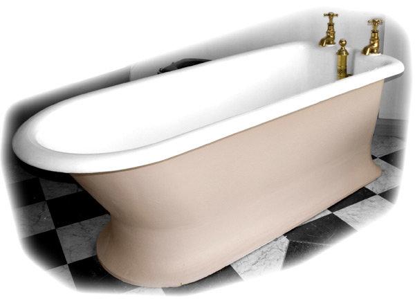 Original English Cast Iron Plunger Bath - VCB601 Large Image
