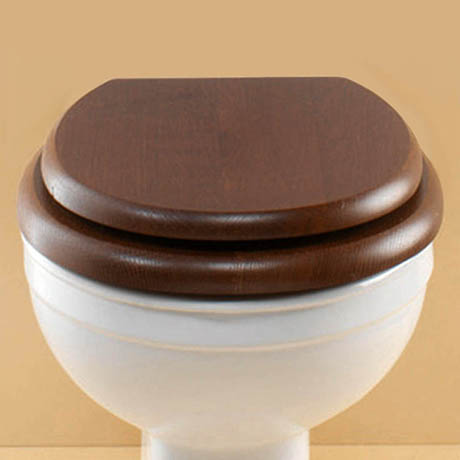 Silverdale BTW Traditional Luxury Mahogany Wooden Toilet Seat