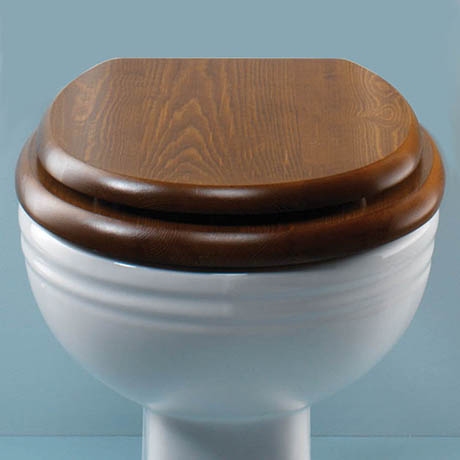 Silverdale BTW Traditional Luxury Dark Oak Wooden Toilet Seat