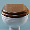Silverdale BTW Traditional Luxury Dark Oak Wooden Toilet Seat profile small image view 1