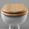 Silverdale BTW Traditional Luxury Light Oak Wooden Toilet Seat profile small image view 1