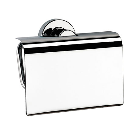 Venice Chrome Toilet Roll Holder with Cover