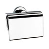 Venice Chrome Toilet Roll Holder with Cover profile small image view 1