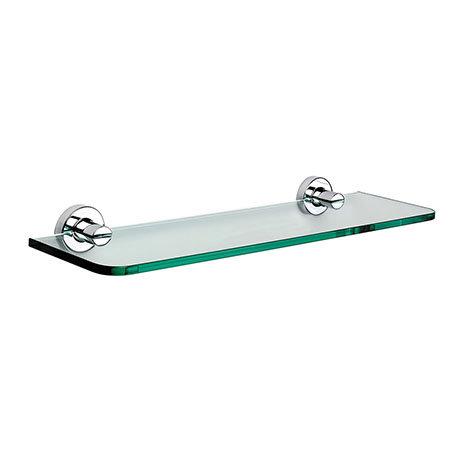 Venice Chrome 500mm Glass Shelf