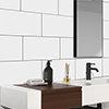 Vancouver Gloss White Wall Tiles - 250 x 400mm Small Image