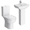 Vienna 4-Piece Short Projection Cloakroom Suite profile small image view 1
